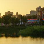 行動佛殿105站嘉義香湖公園,適逢「光織影舞藝術展」