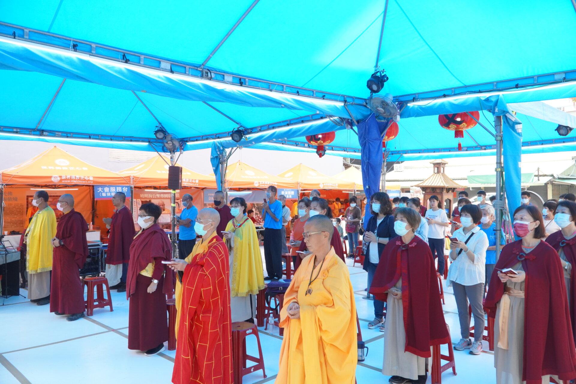 行動佛殿111站嘉義市地藏庵旁,環島祈福誦經法會