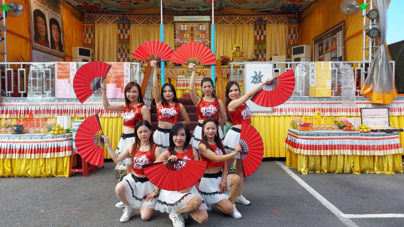 行動佛殿113站台南鹽水,嘉義市奧斯卡關懷協會、Cindy Sexy舞蹈團、嫦玥舞團公益演出