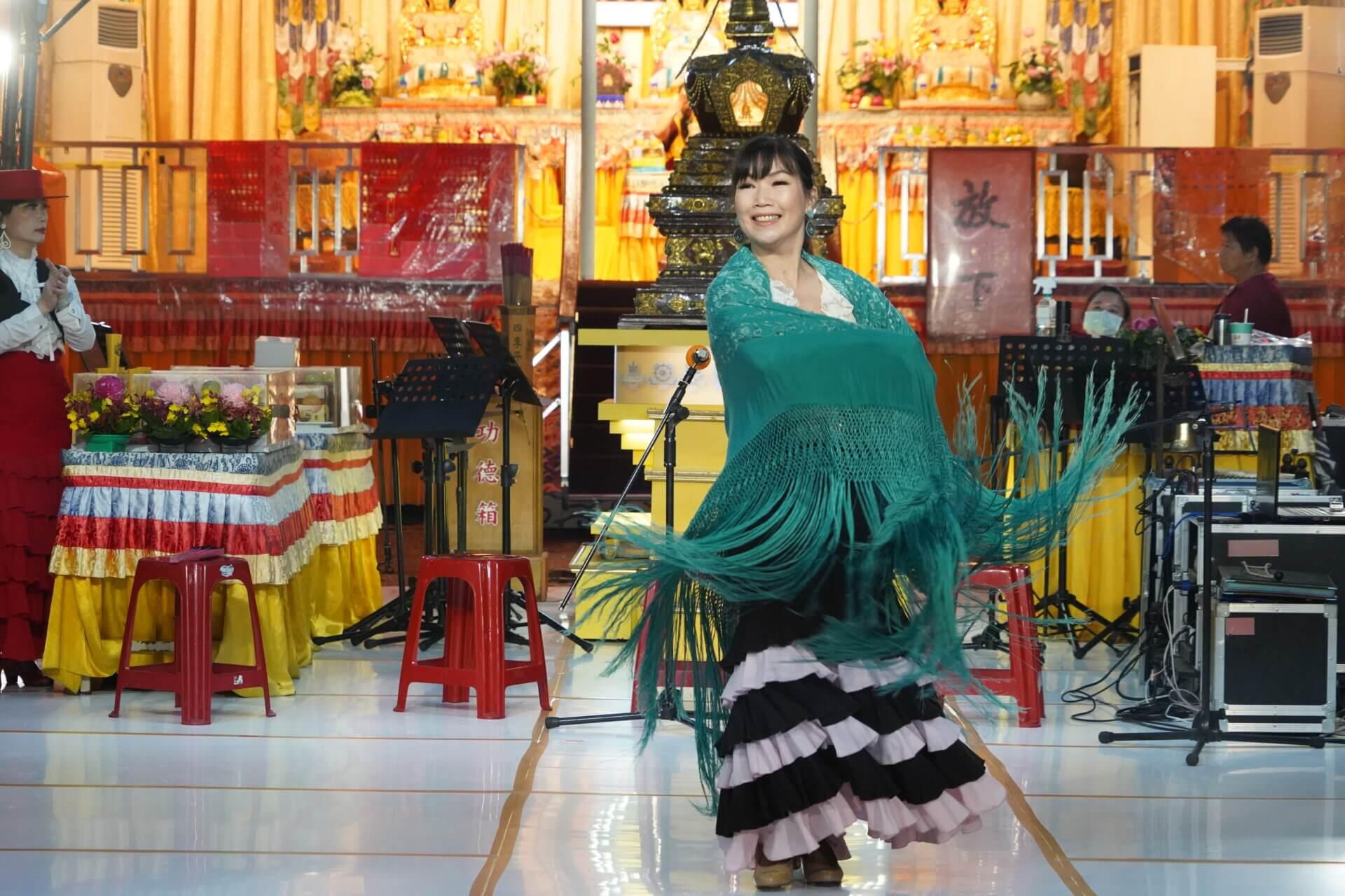 行動佛殿112站台北市政府,影飛旋佛朗明哥舞團公益演出