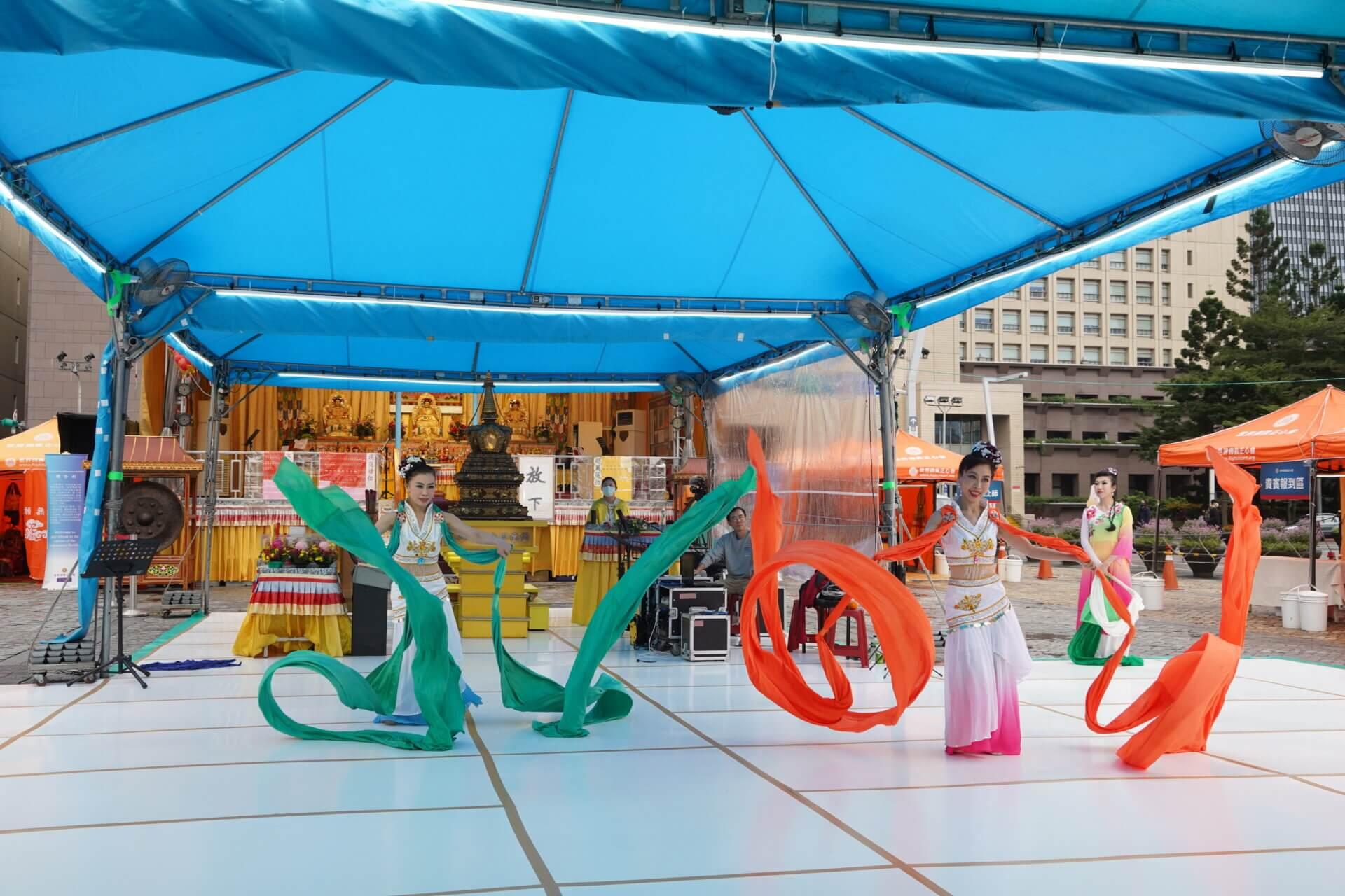 行動佛殿112站台北市政府,豫和舞耘舞團公益演出