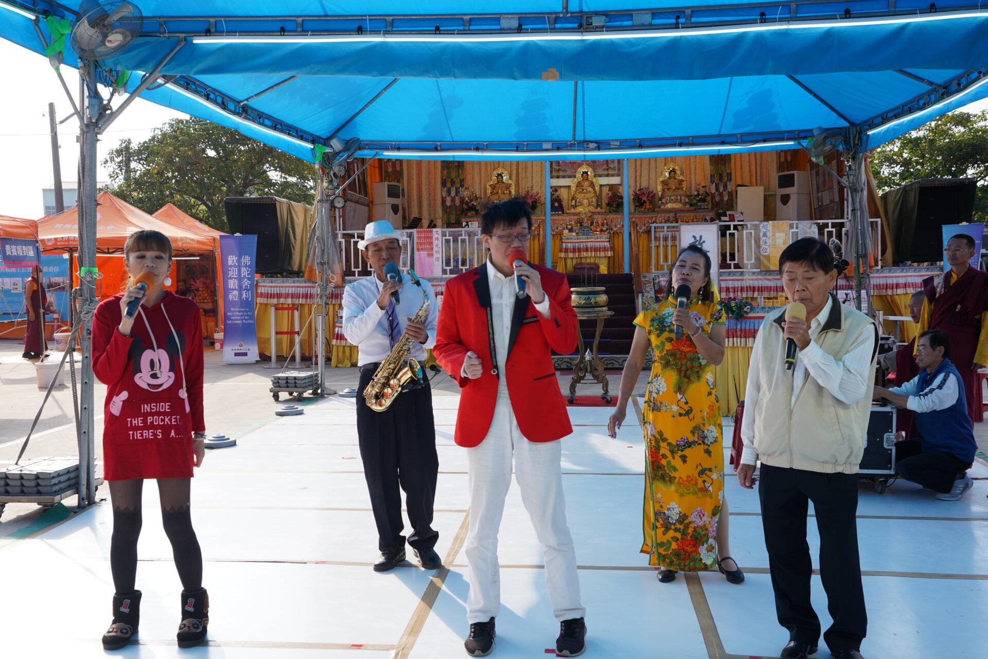 行動佛殿116站台南後壁,東港歌手公益演出