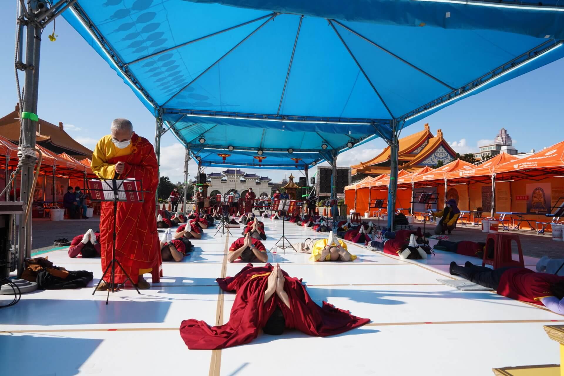 行動佛殿117站台北中正紀念堂,禮拜慈悲藥師寶懺