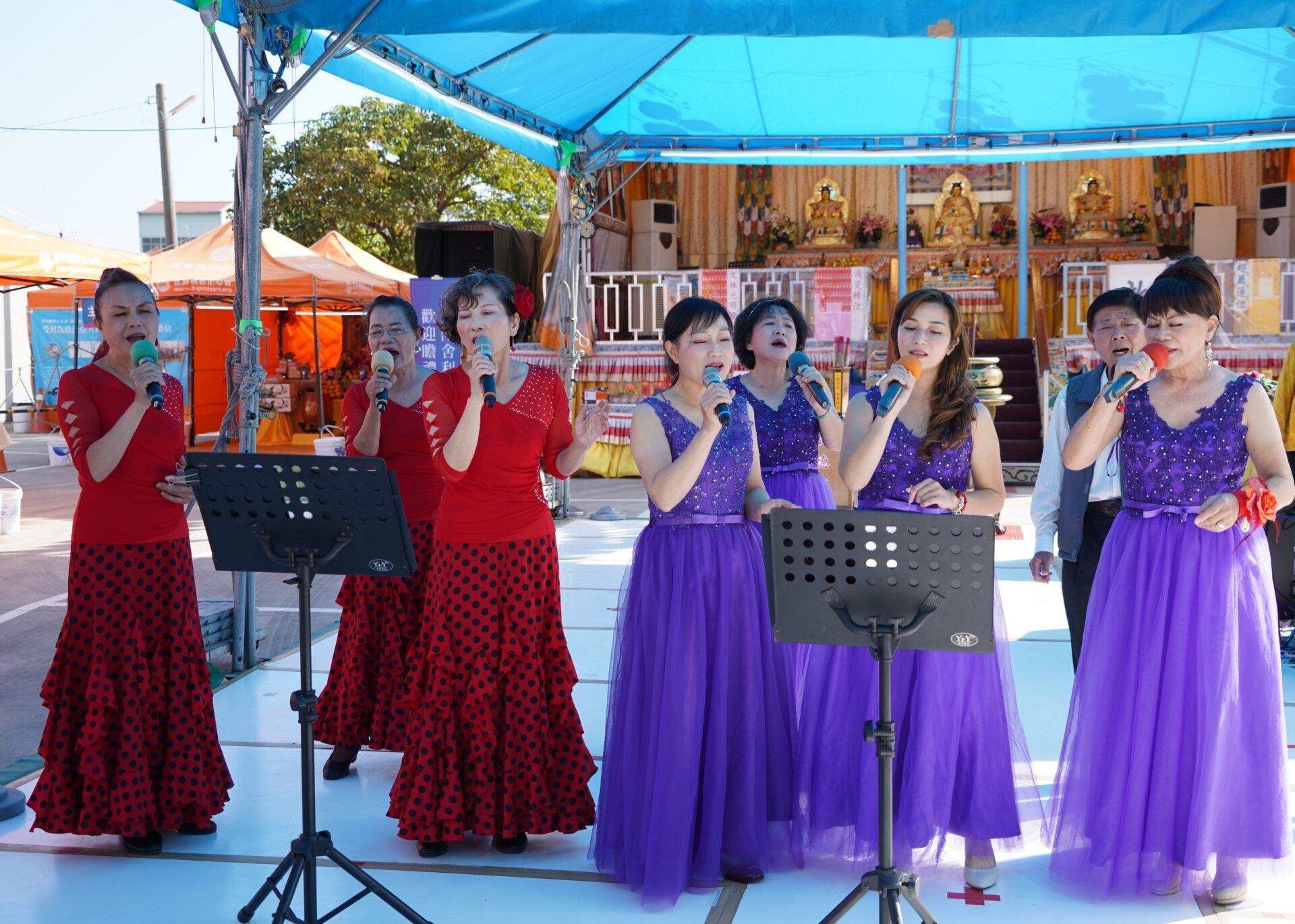 行動佛殿116站台南後壁,正心合唱團公益演出