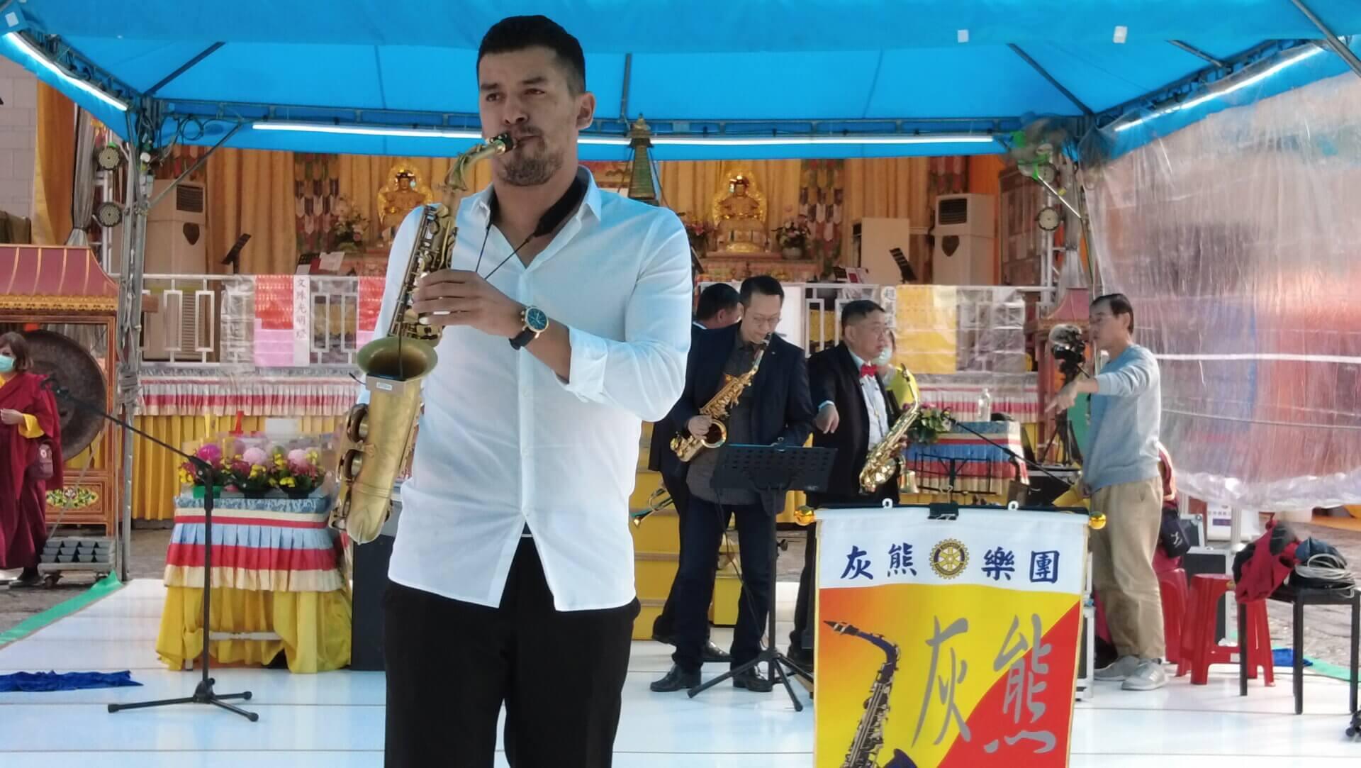 行動佛殿112站台北市政府,台北灰熊樂團-巴西Diogo Pinheiro公益演出