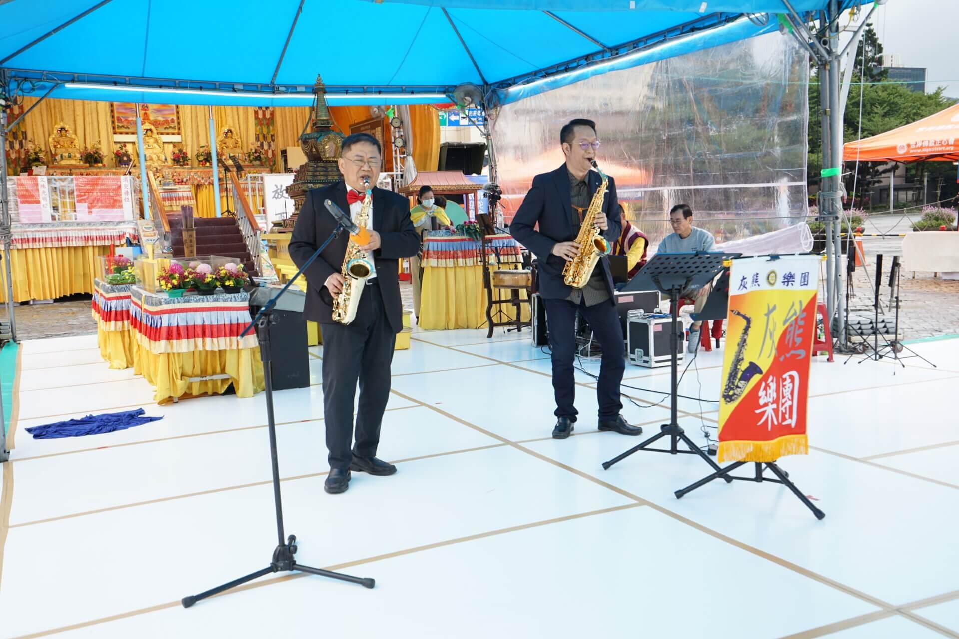 行動佛殿112站台北市政府,台北灰熊樂團公益演出