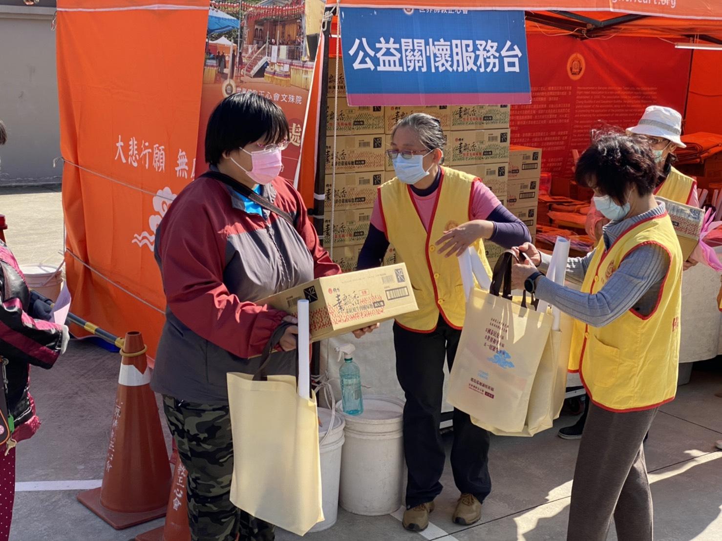 行動佛殿116站台南後壁,本會公益關懷發送愛心物資