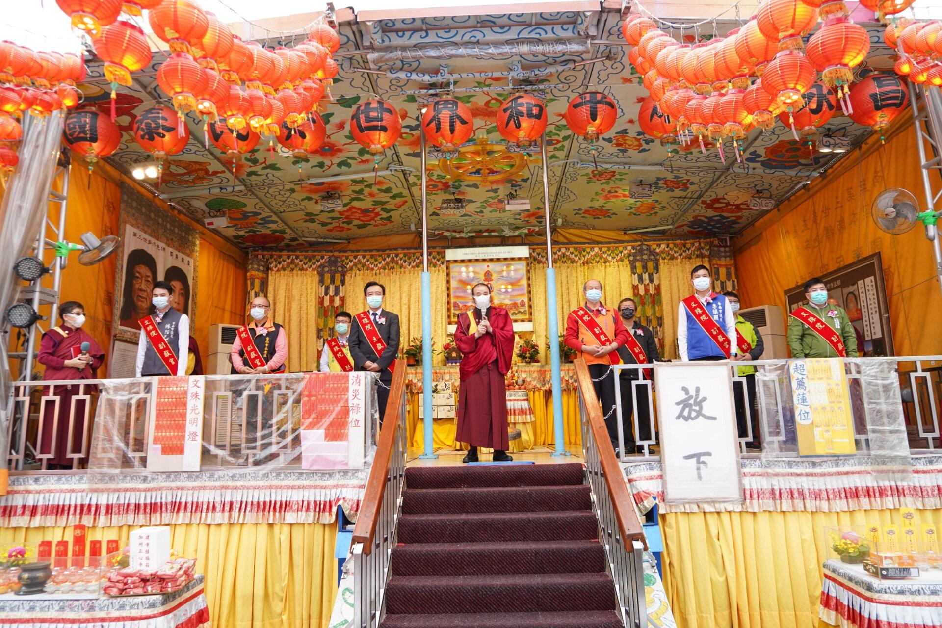 行動佛殿120站台南永康,本會指導上師感謝貴賓蒞臨祈福