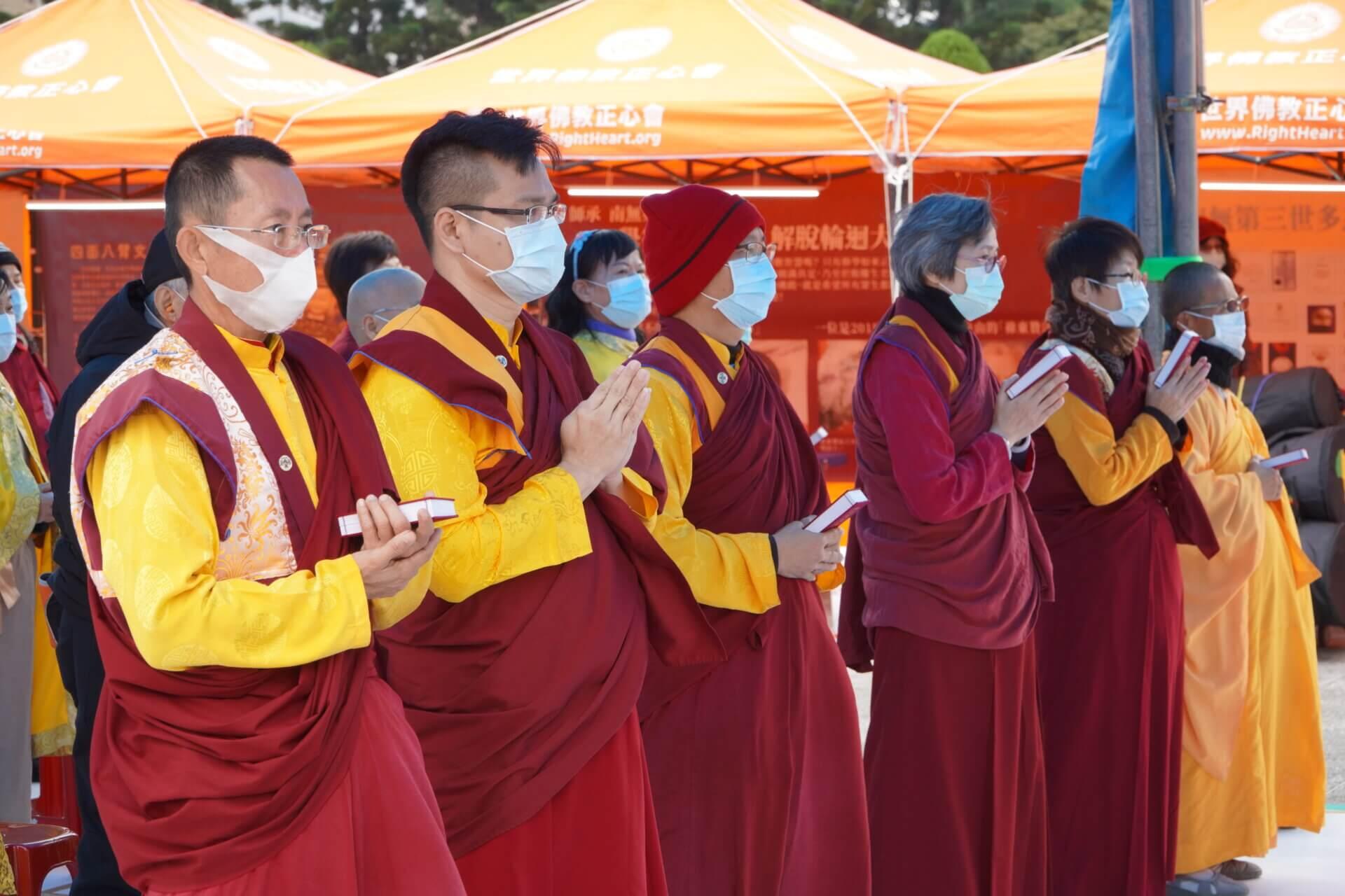 行動佛殿117站台北中正紀念堂,啟建全球冠狀病毒流感遠離息沒消災祈福法會