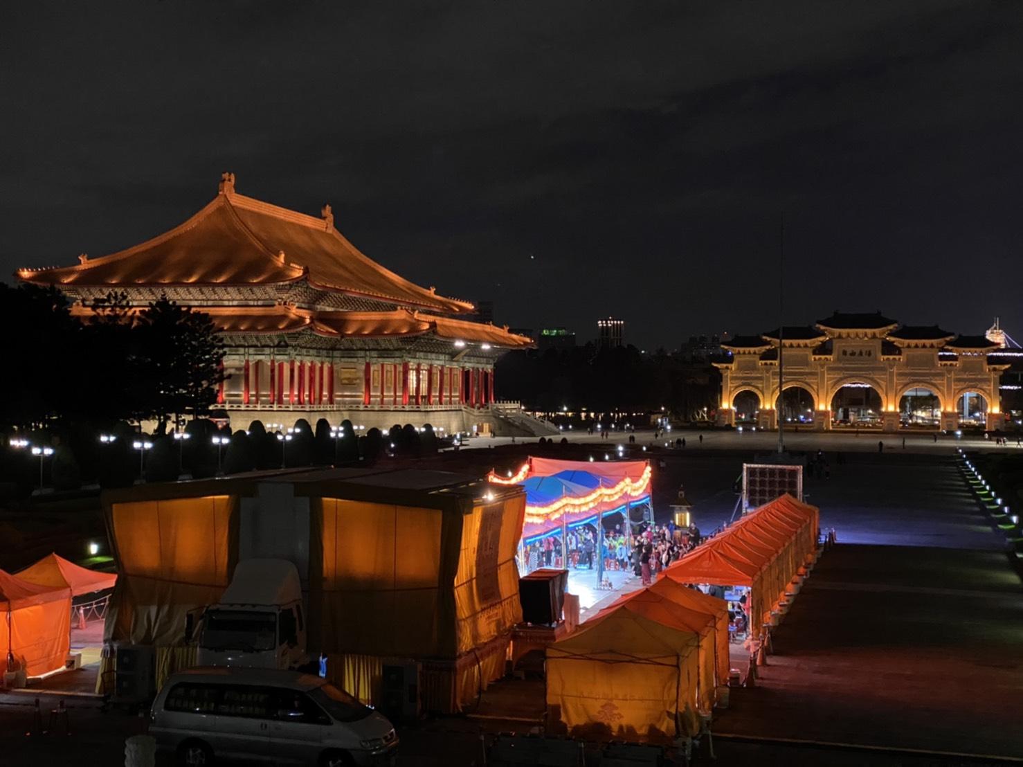 行動佛殿117站中正紀念堂,舞動之夜公益晚會