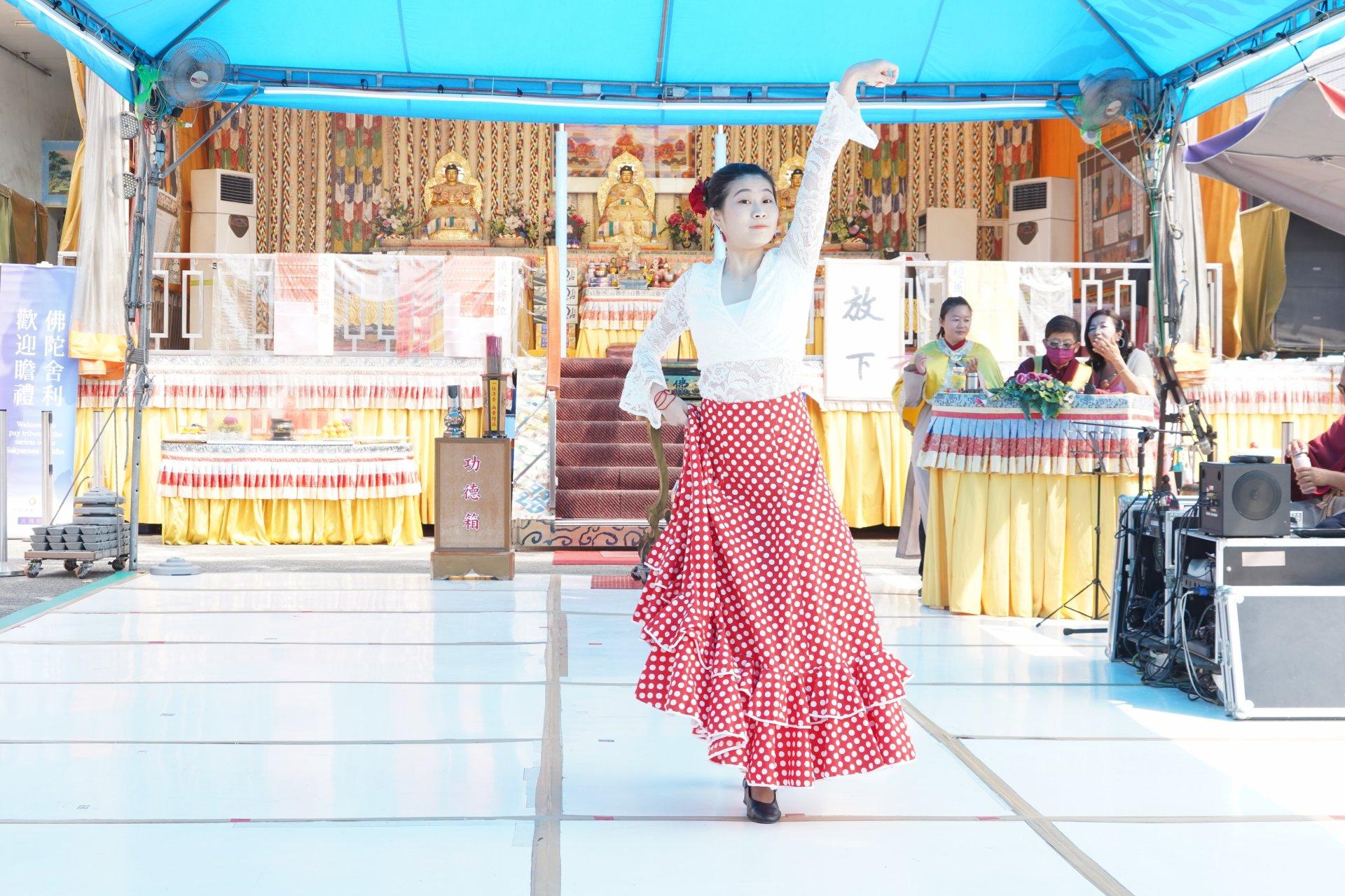 行動佛殿129站高雄永安,正心舞團劉亭孜佛朗明哥舞蹈公益演出