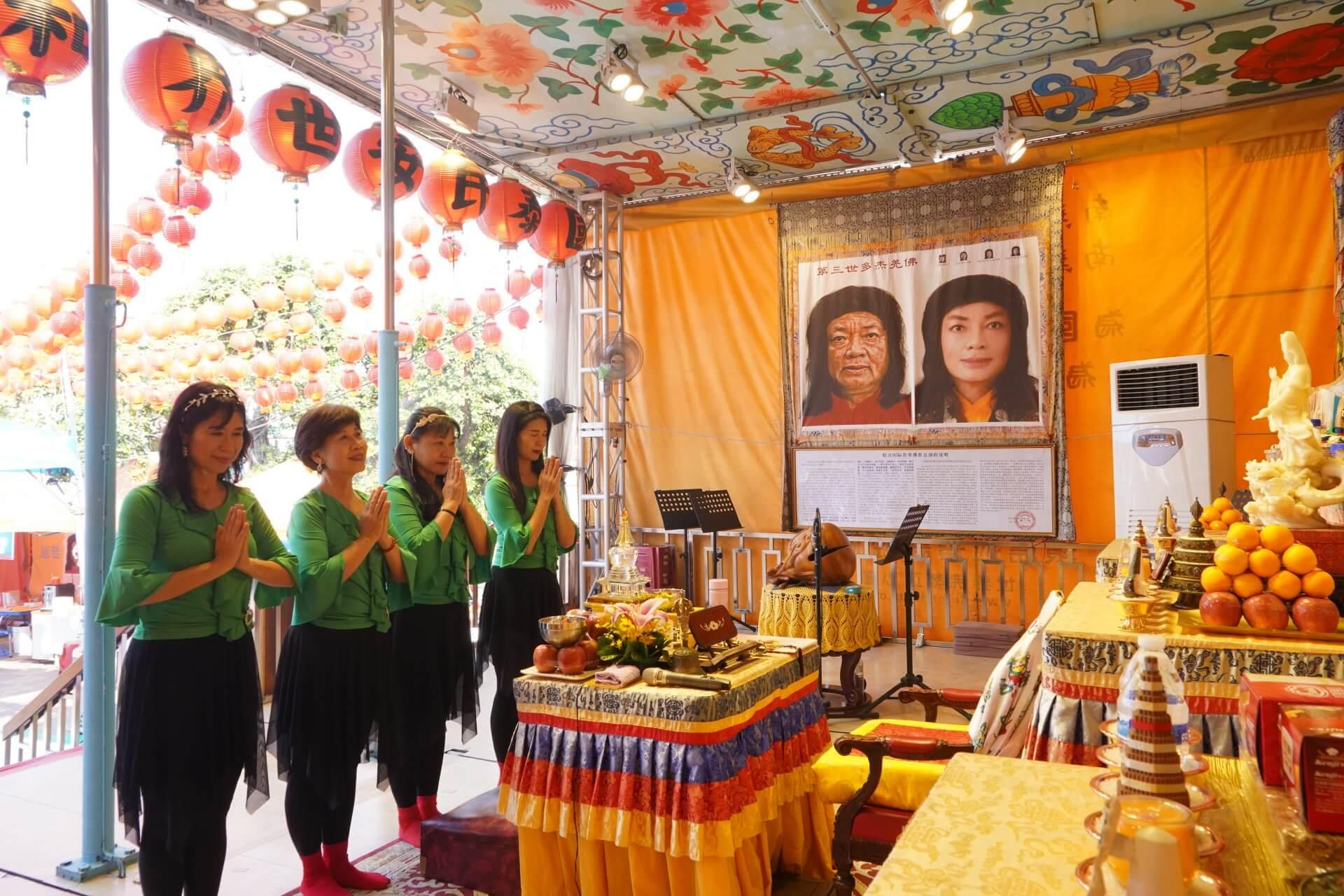 行動佛殿125站屏東里港,表演團體頂禮諸佛菩薩