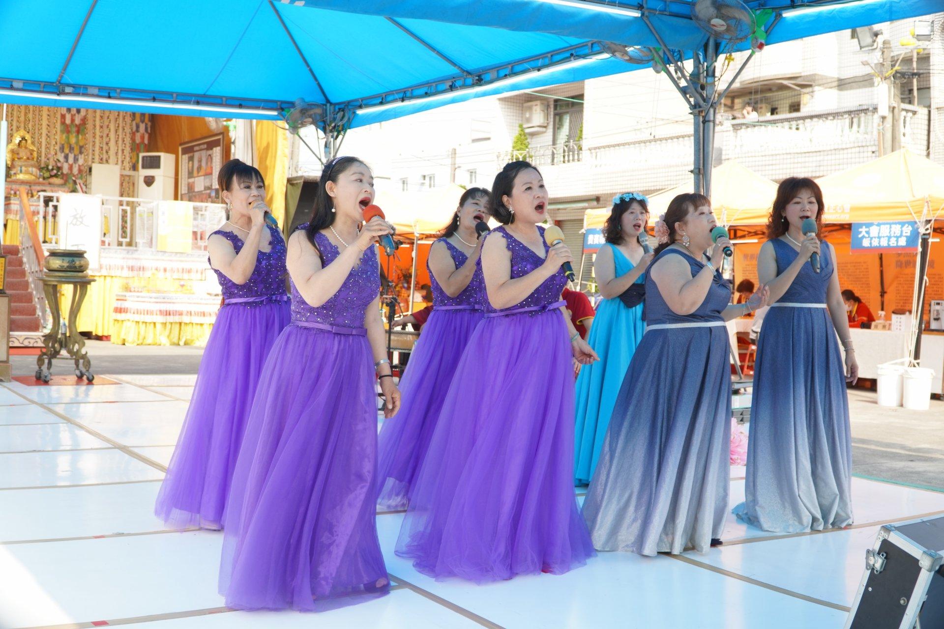 行動佛殿128站高雄路竹,正心合唱團公益演出