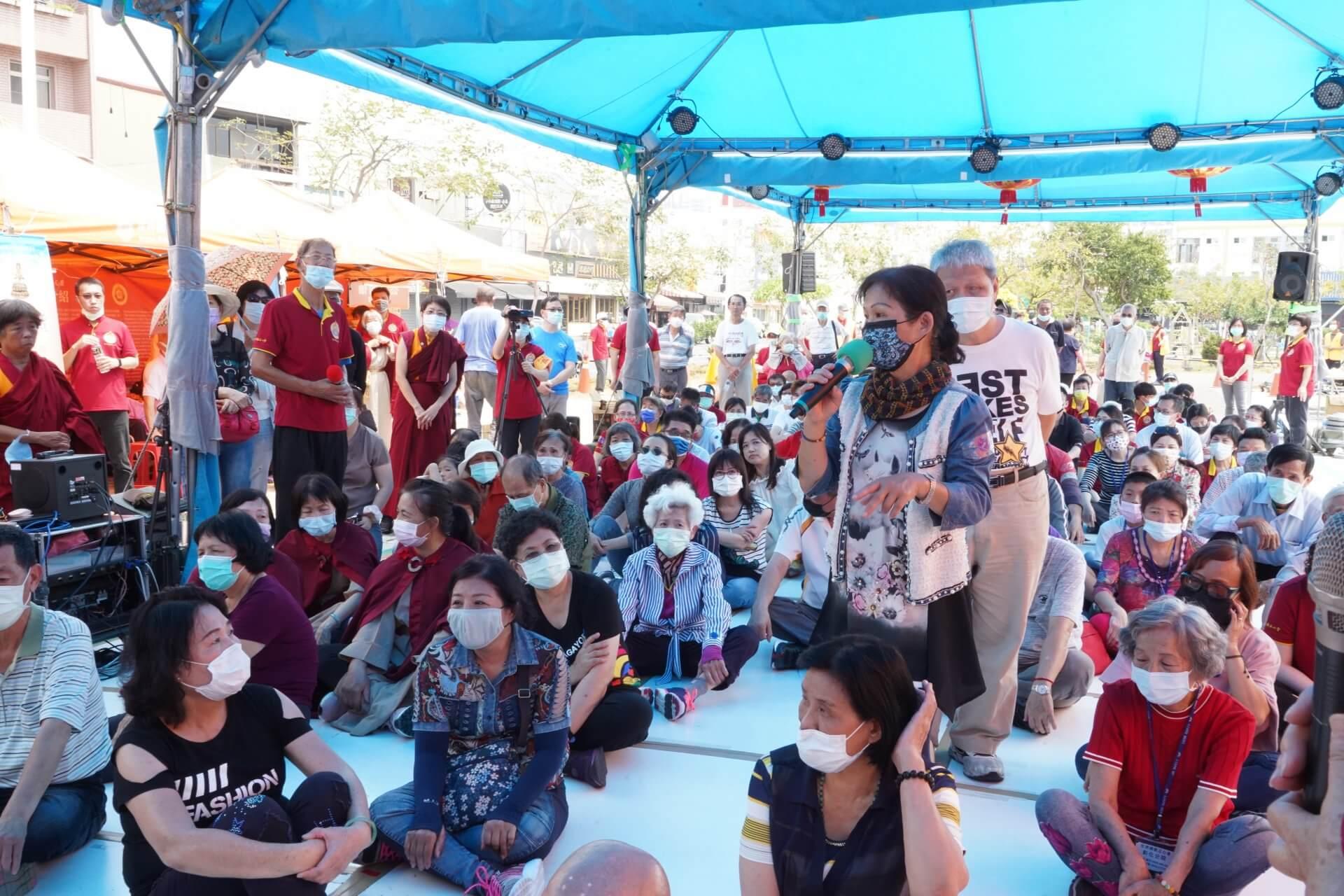 行動佛殿130站台南大興公園,觀音大悲感召加持法會,信眾心得分享